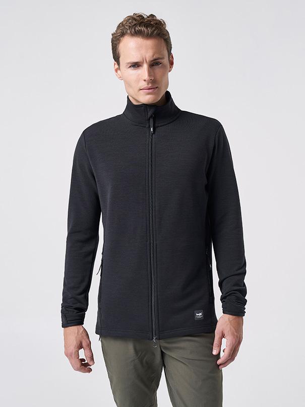 JÄMT Men's Fleece Jacket - Coal black