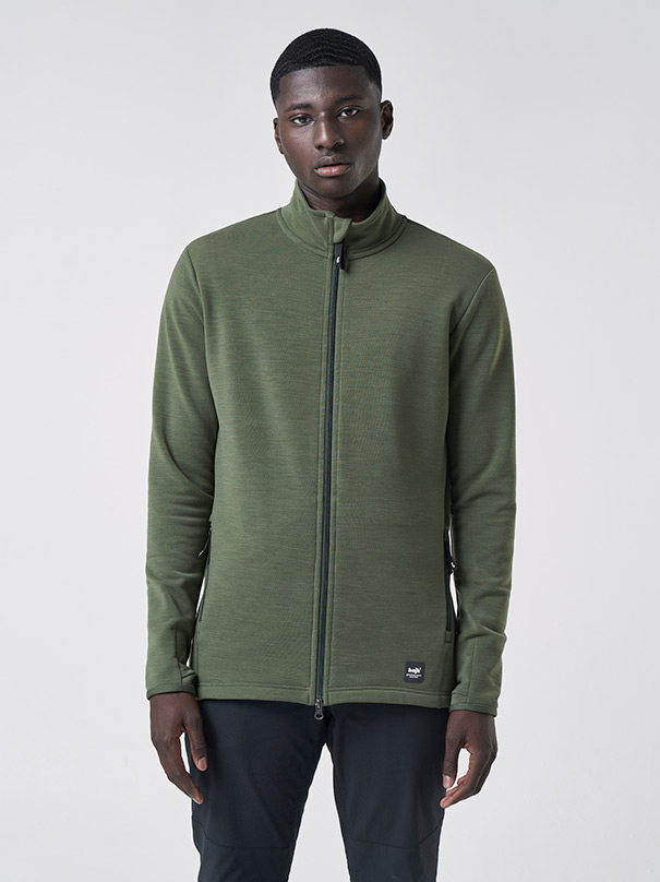 JÄMT Men's Fleece Jacket - Midnight green